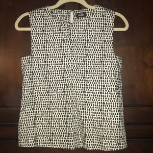 Kate Spade Black & White Grecian Vase Print Top